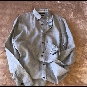 BANANA REPUBLIC CAMDEN FIT 100% LINEN SHIRT